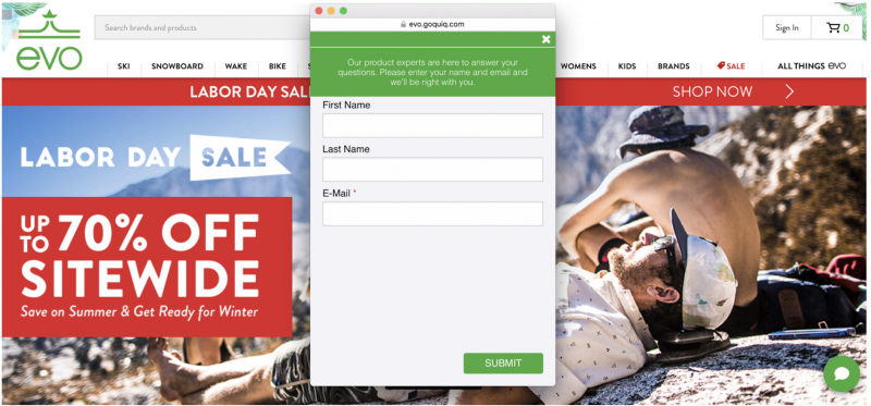 Launch web chat and messaging on your site