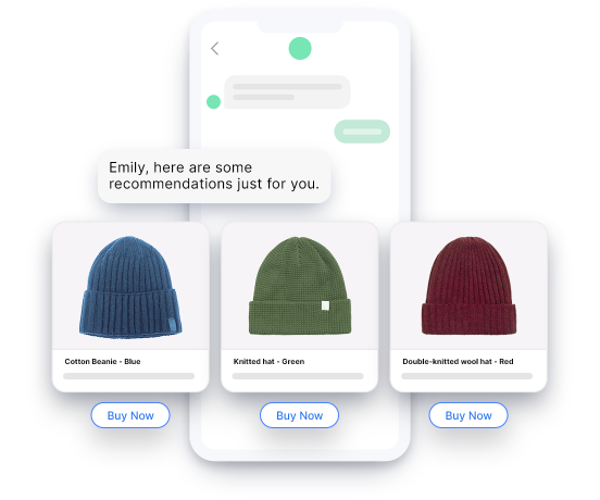 conversational commerce helps customers buy more increase sales product selection messaging
